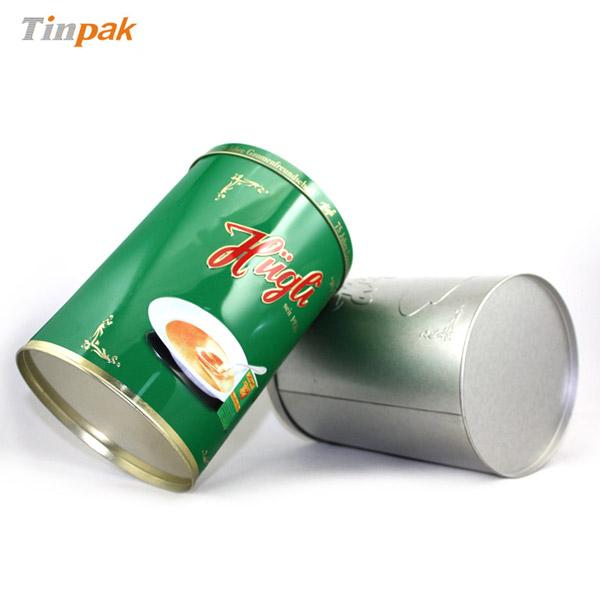 round coffee tin box factory