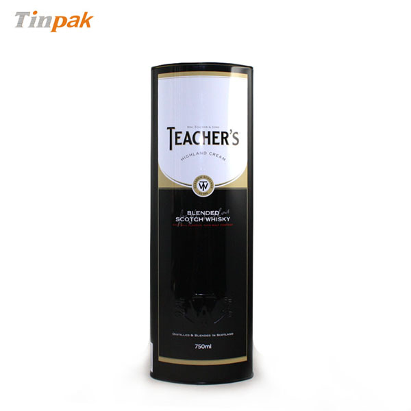 Metal box for wine bottle packing and promotion