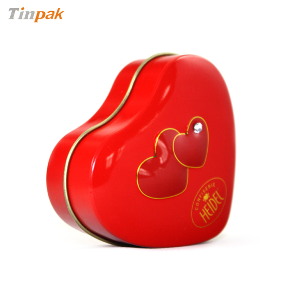 seamless heart tin boxes