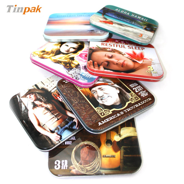 rectangular CD tin cases