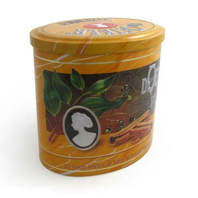 Favorable Oval Tea Tin Box