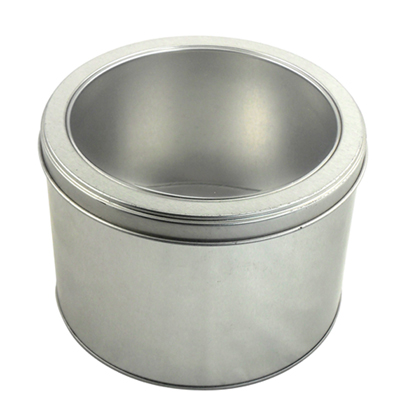 Round shape watch tin box with PVC window