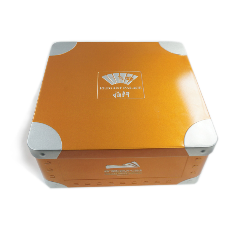 Square food storage tin container manufacturer