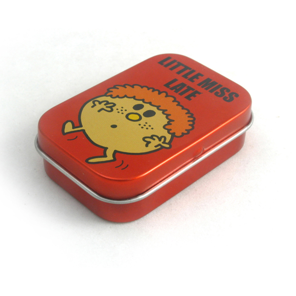 mini chewing-gum tin boxes