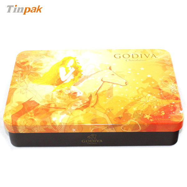 GODIVA Chocolate tin cans