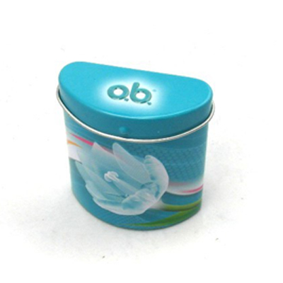 Irregular shape small mint candy tin