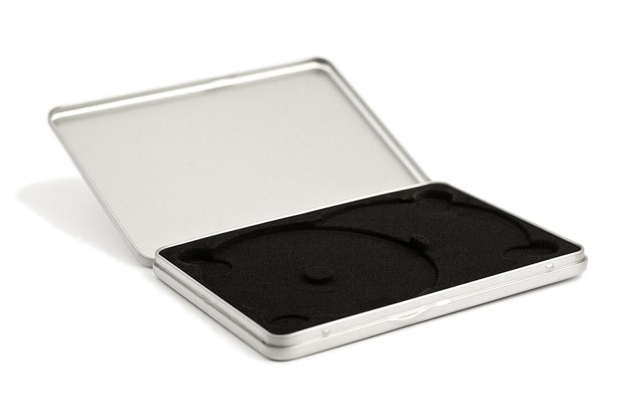 CD/DVD tin case with 2pcs insert