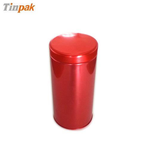 empty metal tea tin case