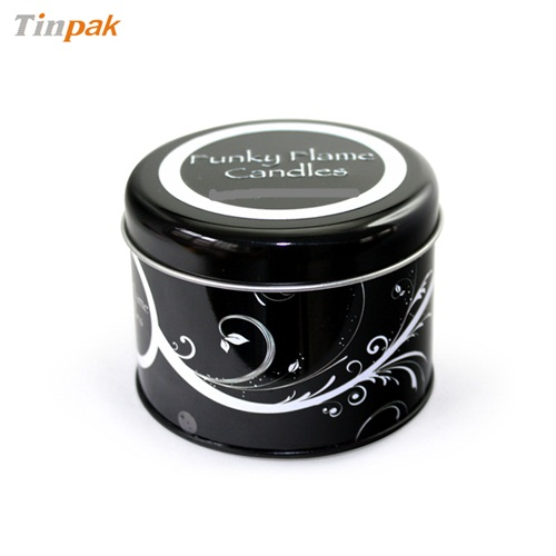 round tin case for candles