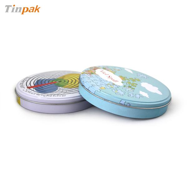 round music CD tin case