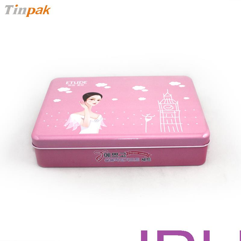 fancy cosmetic tin box