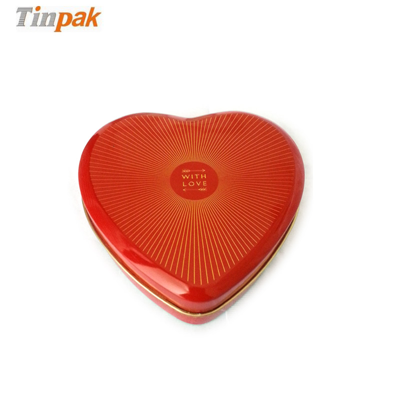 shiny love heart tin box