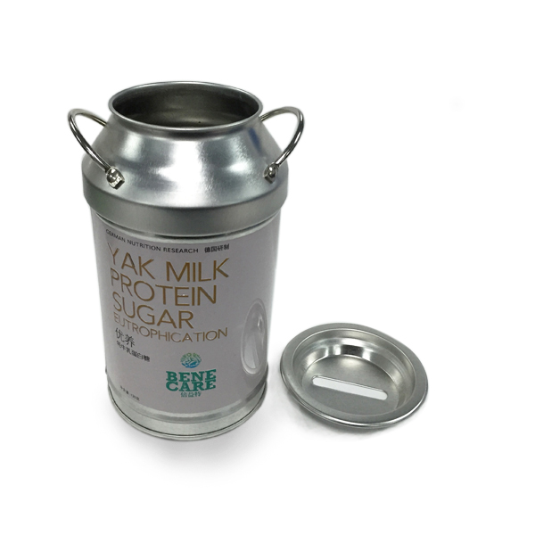 Lovely Milk Tin With Coin Slot