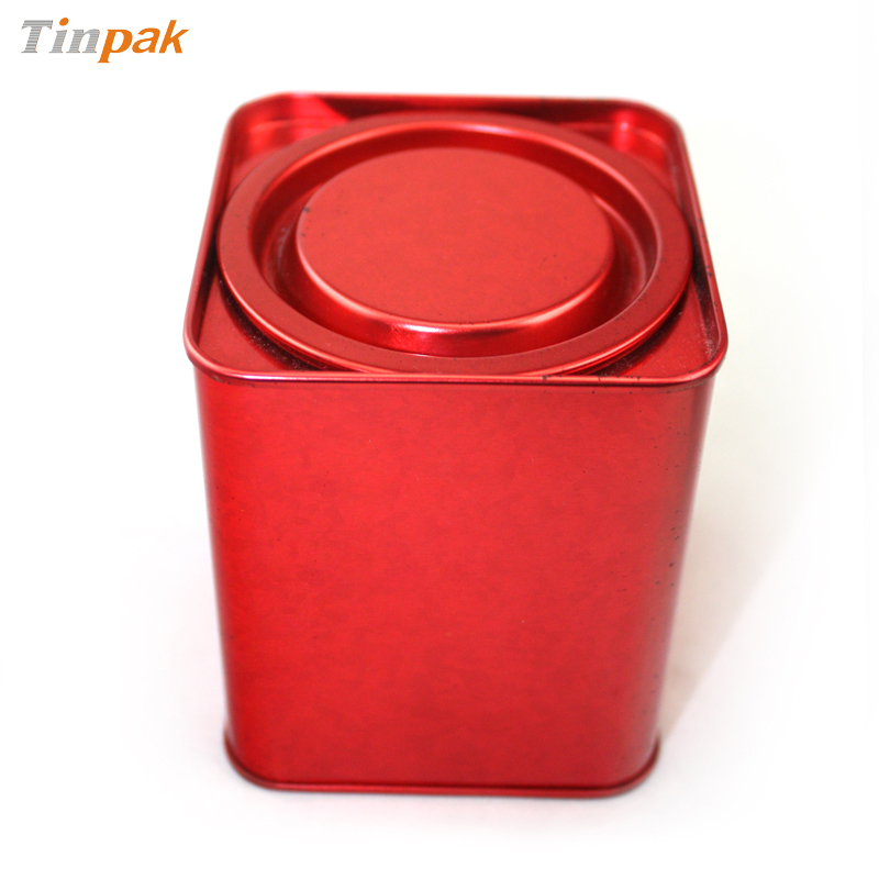 lever lid top tea tin cans