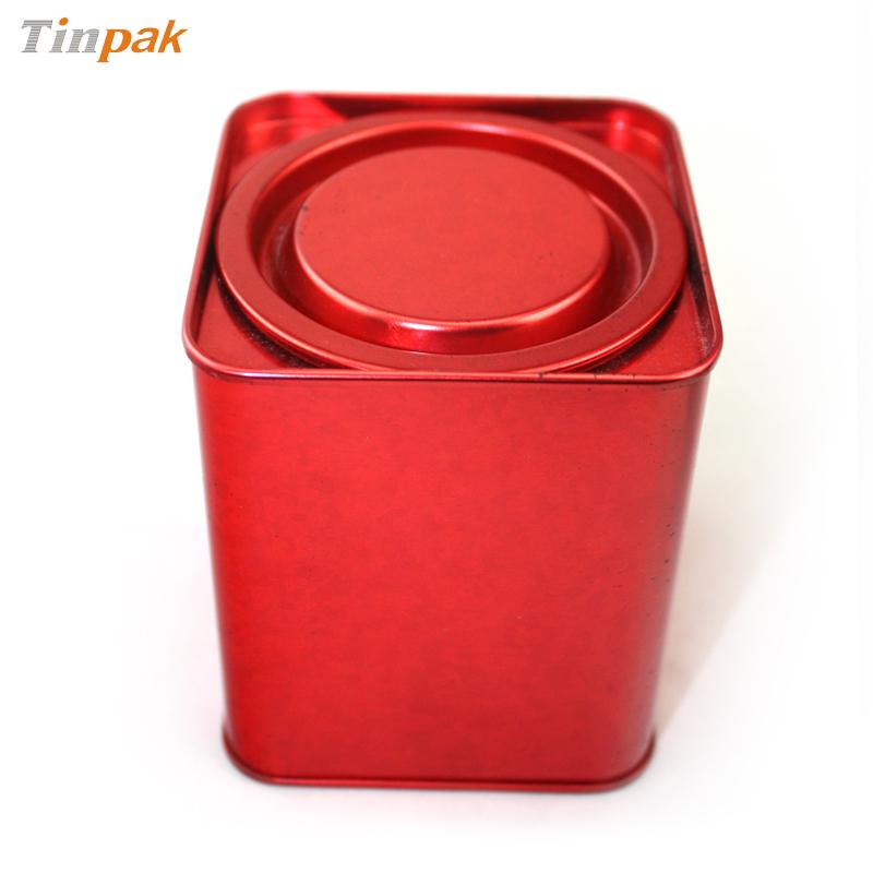 lever lid top tea tin cans