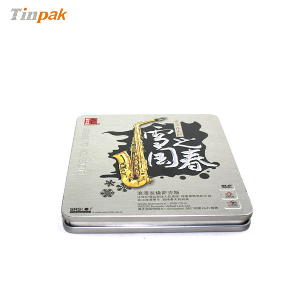 metal embossed rectangular CD tin holders