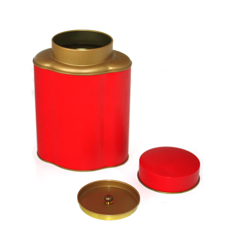 green tea tin with inner lid