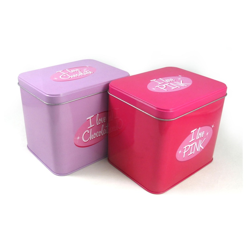 Lovely Square Gift Metal Tin