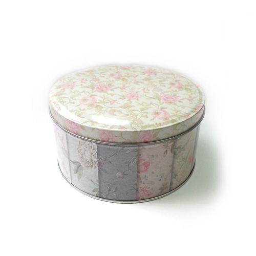 custom printed round metal cake tin container