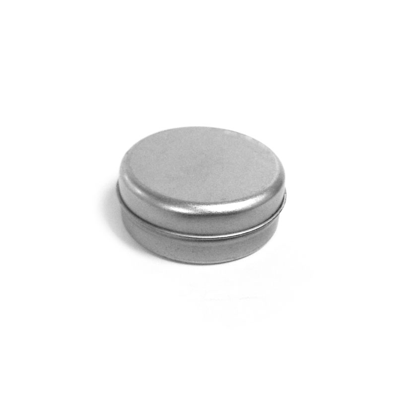 small plain seamless round lip balm tin