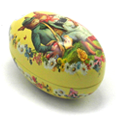 big egg shape tin box for easter