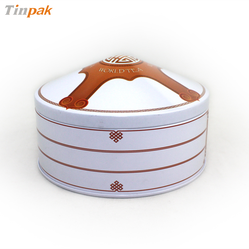 popular yurt metal candy tin