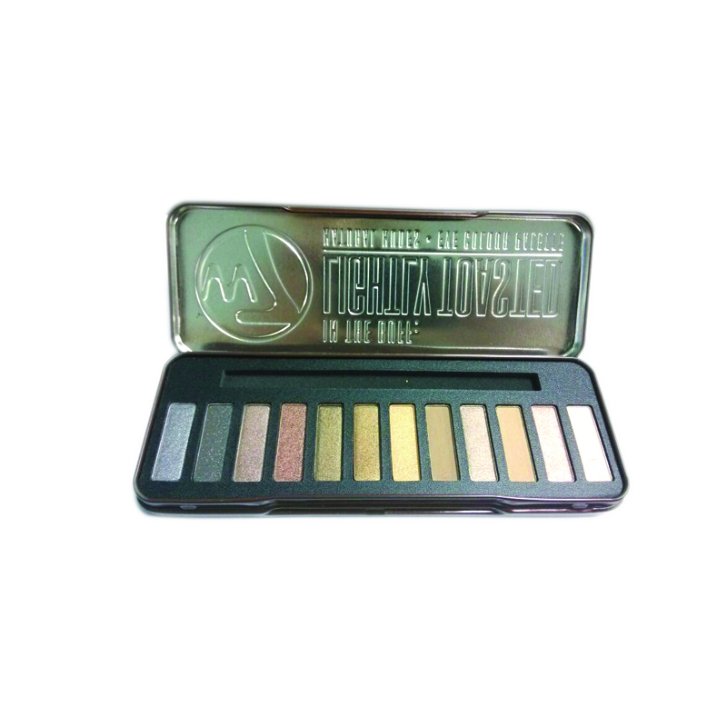 rectangular eye shadow tin case
