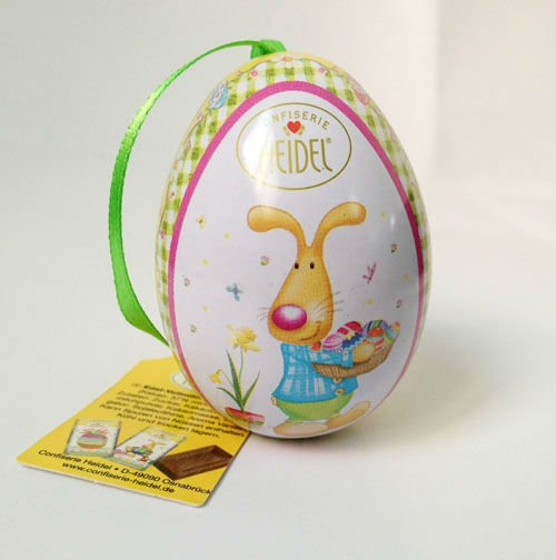 fancy egg shape tin for chocolate packaging