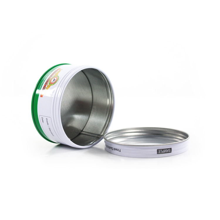 Round Chocolate Screw Lid Tin