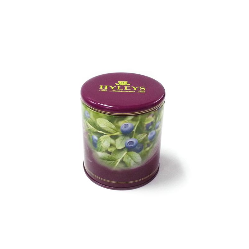 small round airtight tea tin