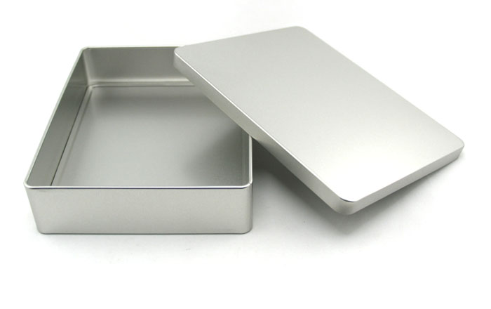 Rectangular custom cookie tin case