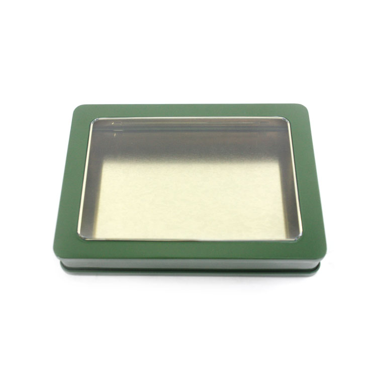 wholesale hinged window tin box