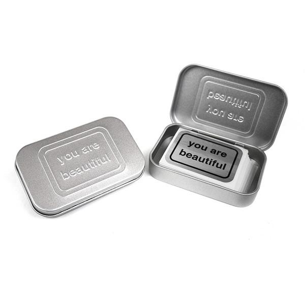 small hinged mint tin box