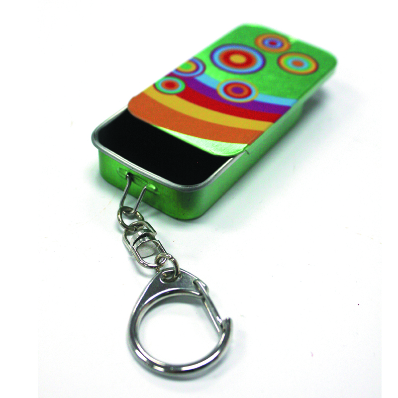 Slider Mint Tin With Key Ring