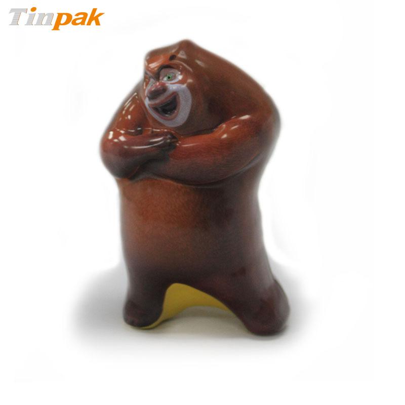 Custom 3D Embossed Bear Shape Candy Tin