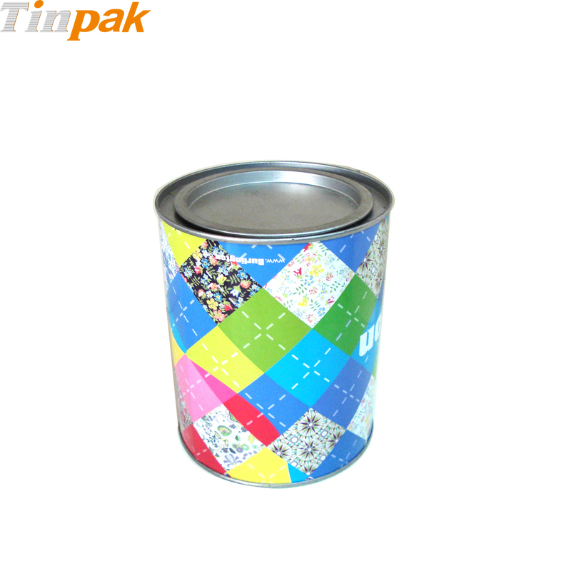 Wholesale promotional round coffee tin with lever lid