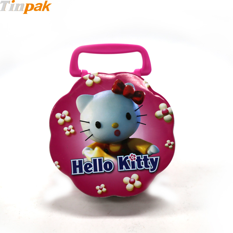 Cartoon Flower Shape Metal Lunch Box