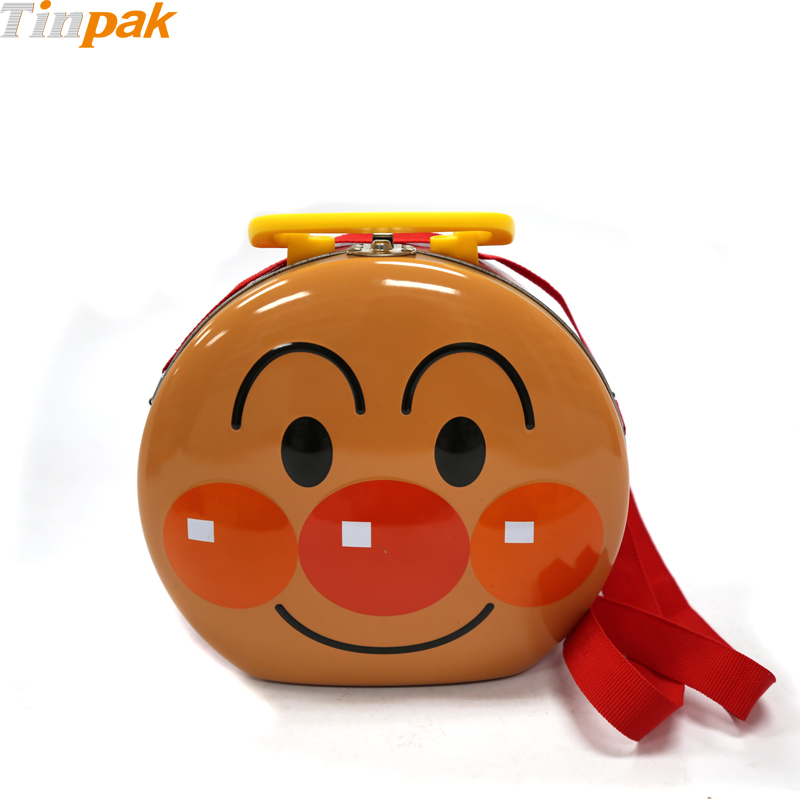 Lovely Anpanman Shape Tin Lunch Box