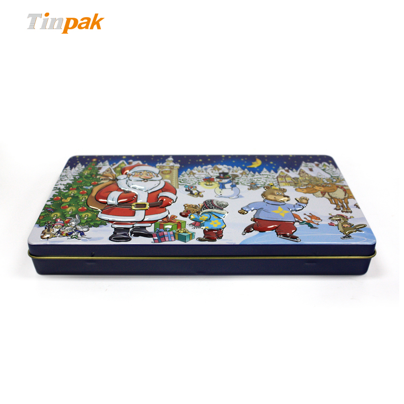 Rectangular Seamless Christmas Chocolate Tin Boxes