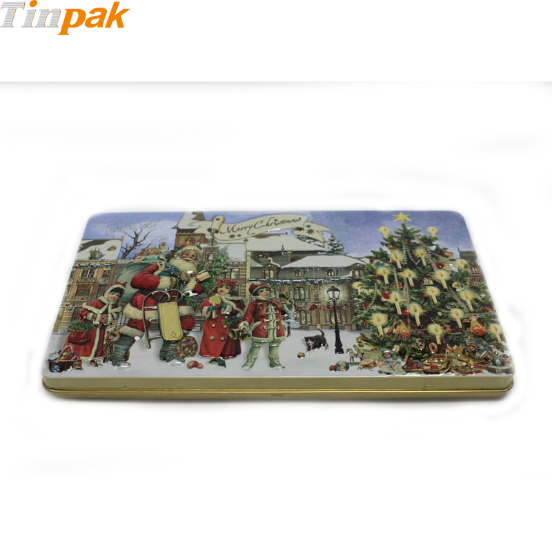 Decorative Christmas Chocolate Tin wholesaler