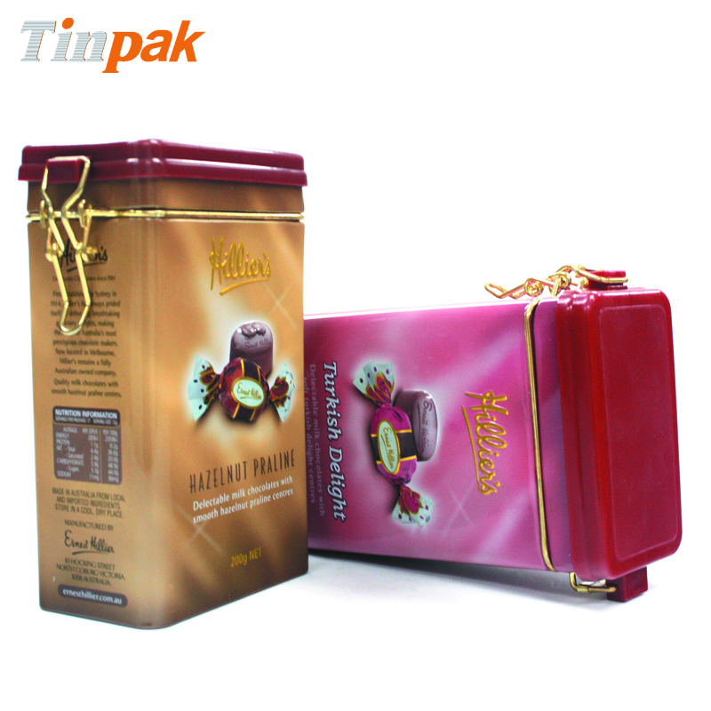 printed candy metal box for sale