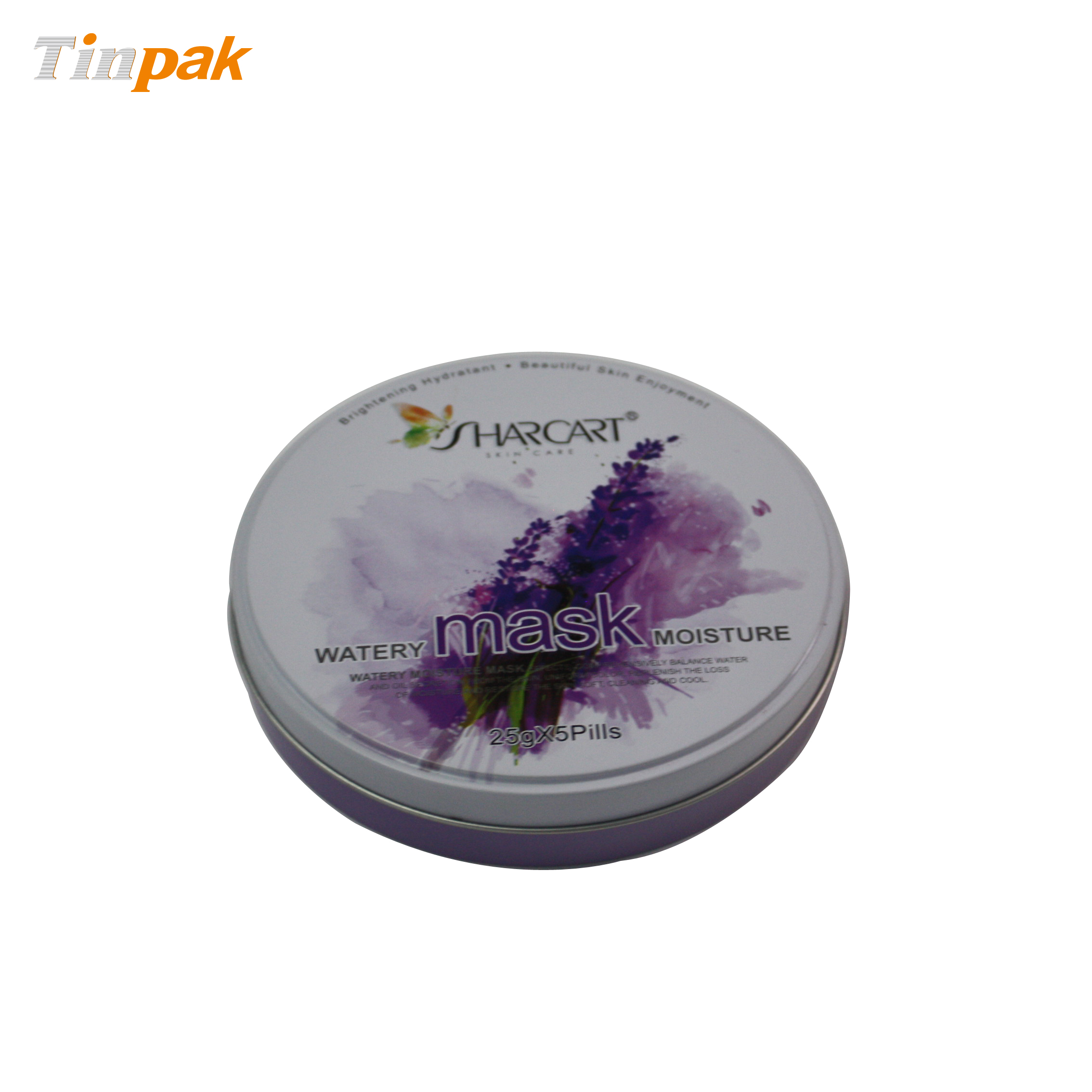 Round Facial Mask Tin for Sale