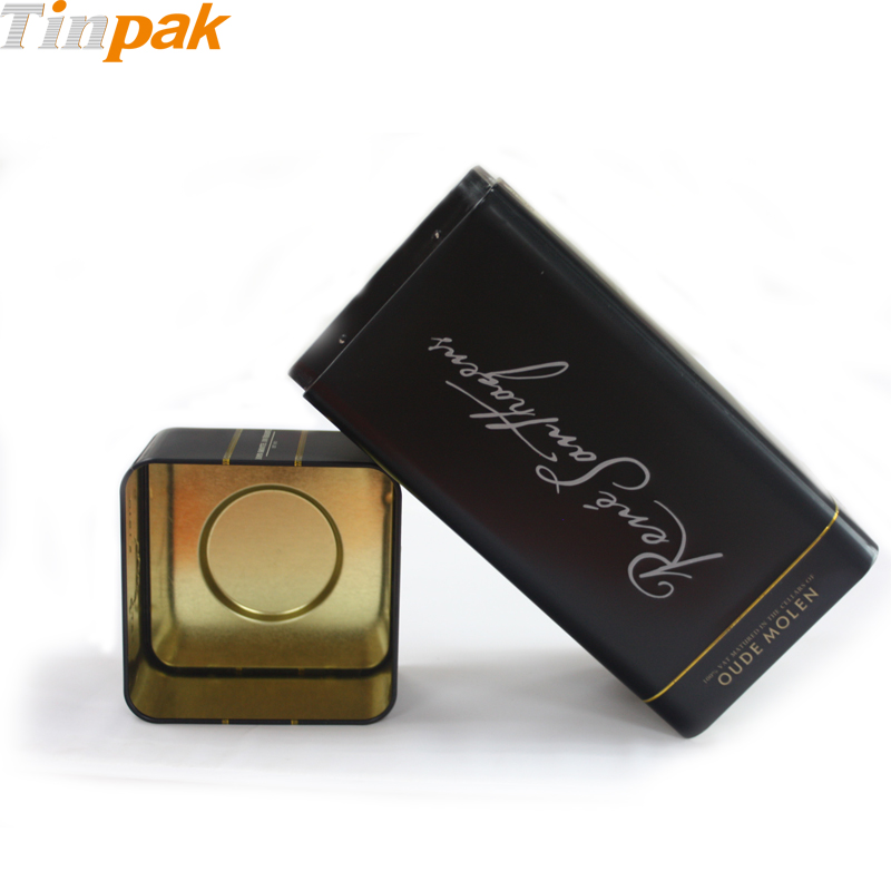 Wholesale premium square wine tin with emboss logo