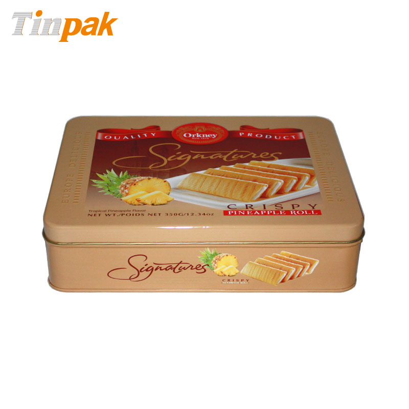 Premium metal cookie tin box
