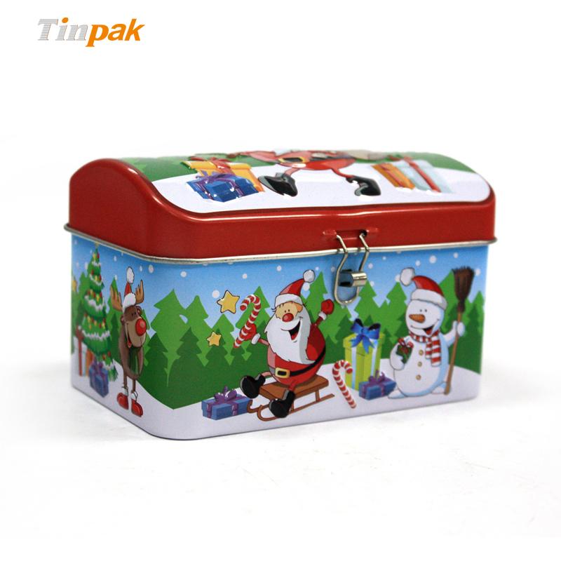 Vintage Christmas storage tins for gift