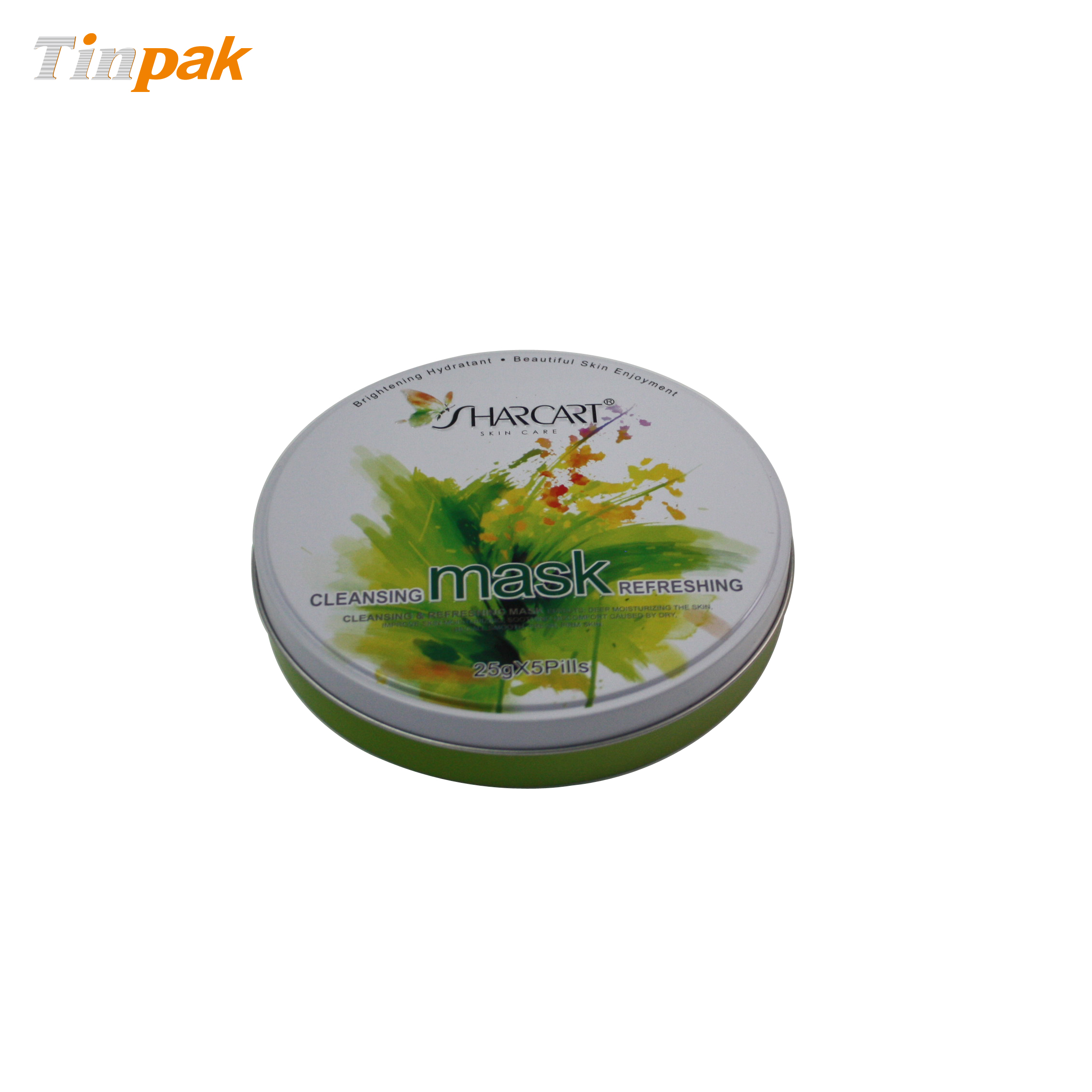 Custom Printing Round Cosmetic Tin