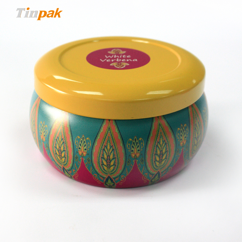 decorative metal tin candle for sale