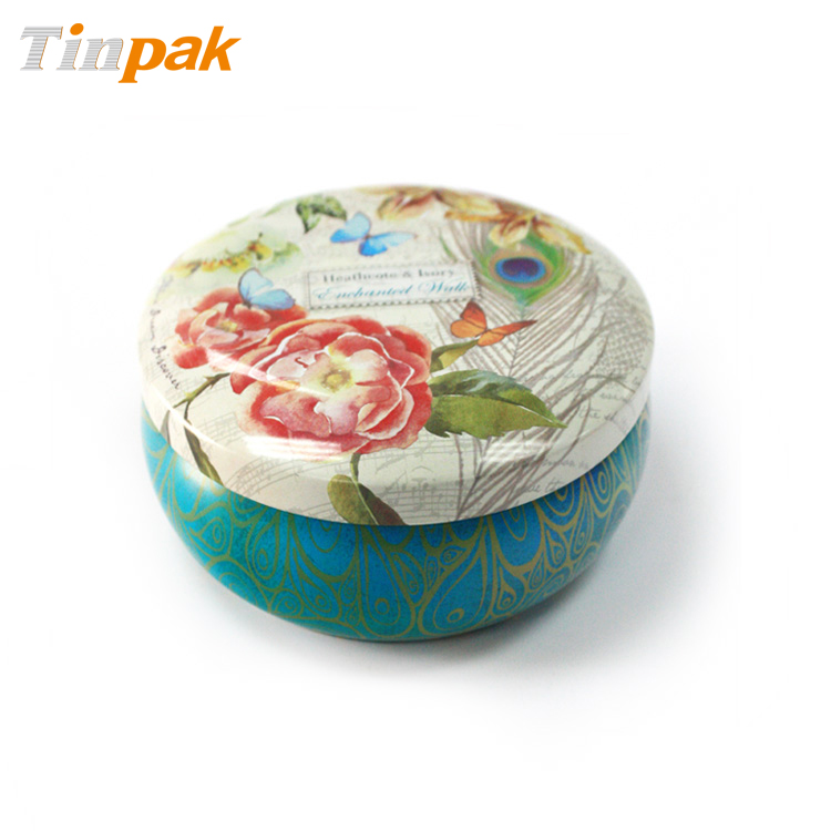 Wholesale Printed Round Aluminum Candle Tin Box