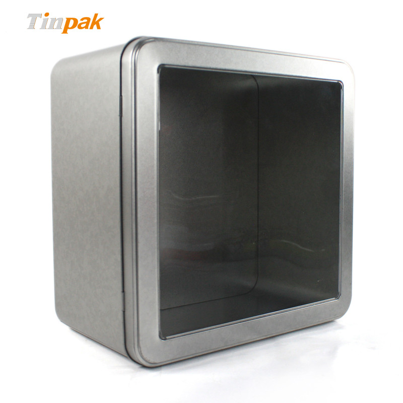 Plain Wholesale Square Tin with Window