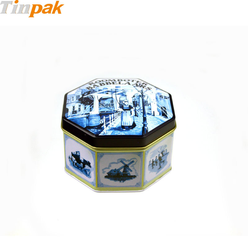 Wholesale Cut Corner Metal Coffee Tins
